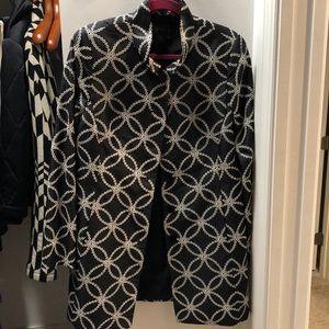 Black and White Nina McLemore long evening jacket
